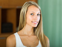 Portrait of smiling girl at home Stock Photography