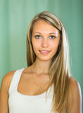 Portrait of smiling girl at home Royalty Free Stock Photos