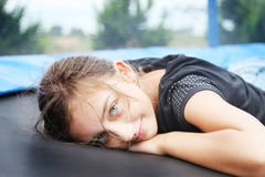 Portrait of smiling girl outdoor. Royalty Free Stock Photo