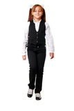 Portrait Of Smiling Girl In School Uniform. Royalty Free Stock Photography