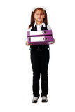 Portrait Of Smiling Girl In School Uniform Royalty Free Stock Photo