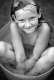 Portrait of smiling girl with wet hair Royalty Free Stock Photography