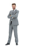 Portrait of a smiling handsome business man  over white backgrou Royalty Free Stock Image
