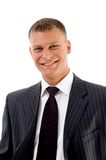 Portrait of smiling handsome businessman Royalty Free Stock Images