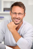 Portrait of smiling handsome man Royalty Free Stock Images