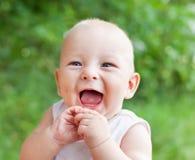 Portrait of smiling happy baby boy Stock Photos