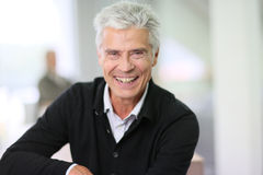 Portrait of smiling and happy senior man Royalty Free Stock Photo
