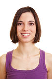 Portrait of smiling happy woman Royalty Free Stock Photography