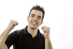 Portrait of a smiling happy young man Stock Images