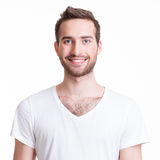 Portrait of smiling happy young man. Stock Images