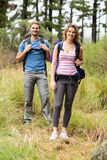 Portrait of a smiling hiker couple Stock Photo
