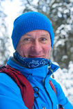 Portrait of smiling hiker Royalty Free Stock Photos