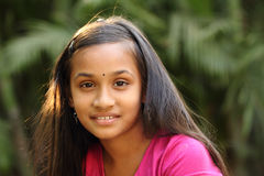Portrait of Smiling Indian teen girl Royalty Free Stock Images