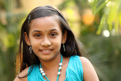 Portrait of Smiling Indian teen girl Stock Photography