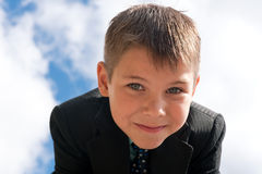 Portrait of a smiling kid outdoors Stock Image