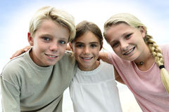 Portrait of smiling kids Royalty Free Stock Image