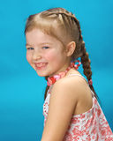 Portrait of smiling little blond girl Royalty Free Stock Photos