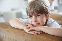 Portrait of smiling little boy looking at camera Royalty Free Stock Images