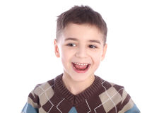 Portrait of smiling little boy stock photography