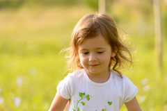 Portrait of a smiling little girl. Stock Images