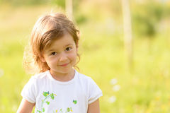 Portrait of a smiling little girl. Royalty Free Stock Photos