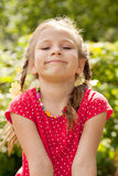 Portrait of a smiling little girl with braids Royalty Free Stock Photos