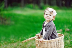 Portrait of smiling little girl - close up Royalty Free Stock Image