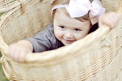 Portrait of smiling little girl - close up Royalty Free Stock Photography