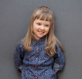 Portrait of smiling little girl Stock Images