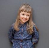 Portrait of smiling little girl Stock Images
