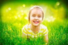 Portrait of a smiling little girl Royalty Free Stock Photos