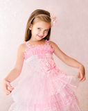 Portrait of smiling little girl in princess dress Royalty Free Stock Photography