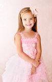 Portrait of smiling little girl in princess dress Royalty Free Stock Photo