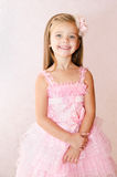 Portrait of smiling little girl in princess dress Royalty Free Stock Photos