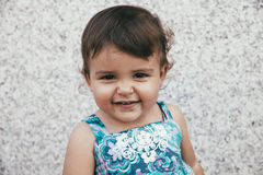 Portrait of smiling lovely little girl Stock Photo