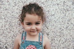 Portrait of smiling lovely little girl Royalty Free Stock Image