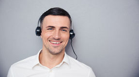 Portrait of a smiling male assistant looking at camera Royalty Free Stock Image