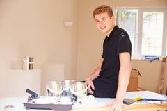 Portrait of smiling male decorator Stock Photos