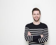 Portrait of a smiling man with arms crossed Royalty Free Stock Image