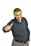 Portrait of a smiling man looking at camera with confidence, is Royalty Free Stock Image