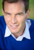 Portrait of smiling man. Outdoor shot Stock Photography