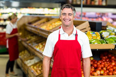 Portrait of smiling man wearing apron Stock Photography