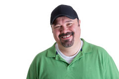 Portrait of Smiling Man Wearing Green Shirt Stock Image