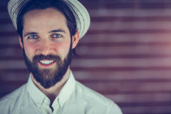 Portrait of smiling man wearing hat Royalty Free Stock Photo
