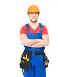 Portrait of manual worker with tools Royalty Free Stock Images