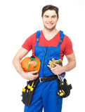 Portrait of manual worker with tools Royalty Free Stock Photography