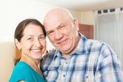 Portrait of smiling mature couple Stock Image