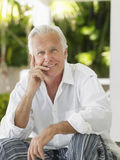 Portrait Of Smiling Mature Man Royalty Free Stock Photos