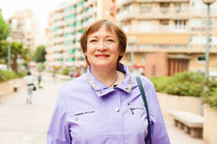 Portrait of smiling mature woman Royalty Free Stock Photo