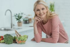 portrait of smiling mature woman royalty free stock images